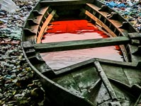 Garbage boat